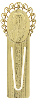 Gold-Tone Praying Mary Bookmark