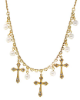 Cross and Pearl Necklace