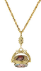 14K Gold Dipped 3-Sided Enamel Mother Mary Spinner Necklace