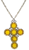 Topaz Crystal Cross Necklace