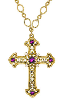 14K Gold Dipped Crystal Cross