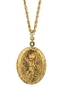 14K Gold Dipped Oval Angel Locket Necklace (SKU: 96017)