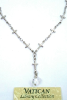 Gold Tone and Ruby Colored Cross