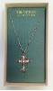 Rose Gold and Crystal Vatican Cross Necklace (SKU: P8066)