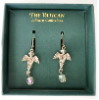 Silver-plated Cherub Vatican Library Drop Earrings