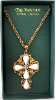 European Crystal Vatican Collection Cross Necklace