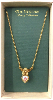 Gold & Crystal Angel Heart Necklace
