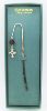 Silver-Plated Cross and Crystals Vatican Bookmark