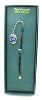 Silver and Blue Crystal Vatican Bookmark