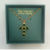 Emeral Swarovski Crystal Cross Necklace