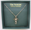 Silver Vatican Library Collection Cross Necklace