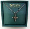 Marcasite - Silver Cross Vatican Necklace