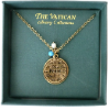 Gold-plated Vatican Library Peace Medallion