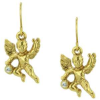 Gold & Crystals Angel Earrings