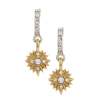 Starburst Crystal Drop Earrings