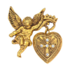 Glory of the Cross Vatican Locket Brooch