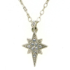 Christmas Star Silver tone Swarovski Crystal Necklace