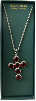 Ruby Swarovski Crystal Cross Vatican Necklace